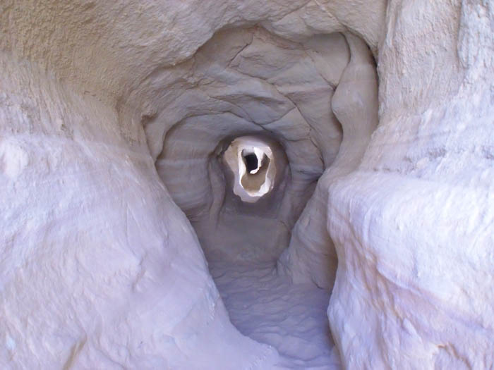 Mining tunnel for copper at Timna Park